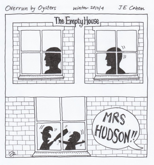 'Mrs Hudson has made some change in that figure…every quarter of an hour.' The Adventure of the Empty House